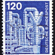 Postage stamp Germany 1975 Chemical Plant — Stockfoto #11747505