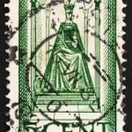 Постер, плакат: Postage stamp Netherlands 1923 Queen Wilhelmina