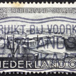 Foto Stock: Postage stamp Netherlands 1934 Willemstad Harbor, Curacao