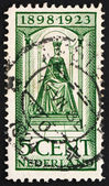 Postage stamp Netherlands 1923 Queen Wilhelmina — Stock Photo