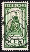 Postage stamp Netherlands 1923 Queen Wilhelmina — Stock Photo