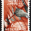 Постер, плакат: Postage stamp Netherlands 1937 Assembly of the Boy Scouts