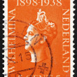 Постер, плакат: Postage stamp Netherlands 1939 Queen Wilhelmina