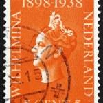 Постер, плакат: Postage stamp Netherlands 1939 Queen Wilhelmina