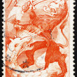 Stock Photo: Postage stamp Netherlands 1945 Lion and Dragon, Liberation of Ne