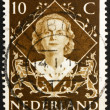 Stock Photo: Postage stamp Netherlands 1954 Queen Juliana