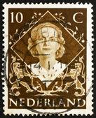Postage stamp Netherlands 1954 Queen Juliana — Stock Photo