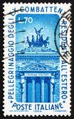 Victor estampilla italia 1964 monumento emmanuel, roma — Foto de Stock