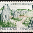 Postage stamp France 1965 Prehistoric Stone Monuments, Carnac - Stock Photo