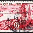 Postage stamp France 1955 Bordeaux, Gironde, France - Stock Photo