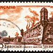 Stock Photo: Postage stamp France 1955 Fortifications, Brouage, France