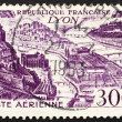 Foto Stock: Postage stamp France 1949 Lyon, France