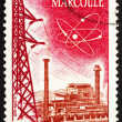 Stock Photo: Postage stamp France 1959 Marcoule Atomic Center