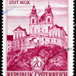 Postage stamp Austria 1963 Melk Abbey, Austria — Stock Photo