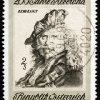 Postage stamp Austria 1969 Self-portrait, by Rembrandt — Stock Photo #11817442