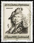 Postage stamp Austria 1969 Self-portrait, by Rembrandt — Stock Photo