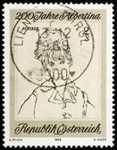 Postage stamp Austria 1969 Wife of the Artist, by Egon Schiele — Stock Photo