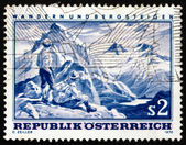 Postage stamp Austria 1970 Mountain Scene — Stock Photo