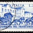 Photo: Postage stamp Italy 1969 Sondrio-Tirano Stagecoach, 1903