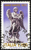 Postage stamp Italy 1975 Angel holding Crown of of Thorns — Stock Photo