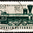 Postage stamp Austria 1967 First Locomotive Used on Brenner Pass - Stock Photo