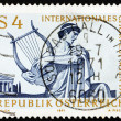 Postage stamp Austria 1971 Singer with Lyre - ストック写真