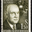 Postage stamp Austria 1960 Adolf Scharf, 6th President of Austri - ストック写真