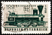 Postage stamp Austria 1967 First Locomotive Used on Brenner Pass — Stock Photo