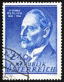 Selo postal áustria 1958 oswald redlich, historiador — Foto Stock