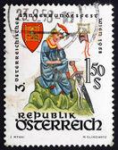 Postage stamp Austria 1958 Walther von der Vogelweide, poet — Stock Photo