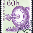 Postage stamp Czechoslovakia 1959 Steam Condenser Turbine - Stock Photo