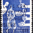 Postage stamp Czechoslovakia 1965 Danube Flood Victims — Stock Photo