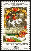 Postage stamp Czechoslovakia 1968 Cinderlad, Slovak Fairy Tale — Stock Photo