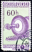 Postage stamp Czechoslovakia 1959 Steam Condenser Turbine — Stock Photo