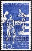 Postage stamp Czechoslovakia 1965 Danube Flood Victims — Stock Photo