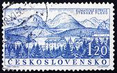 Postage stamp Czechoslovakia 1958 Strbske Pleso, Spa Town, Slova — Foto de Stock