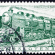 Postage stamp Czechoslovakia 1956 Steam Locomotive, 1945 — Stock Photo