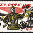 Stock Photo: Postage stamp Czechoslovaki1965 Liberation from Nazis