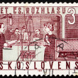 Postage stamp Czechoslovakia 1963 Studio and Radio — ストック写真