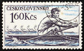 Postage stamp Czechoslovakia 1959 Rowing, Olympic Sport — Foto de Stock