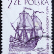 Postage stamp Poland 1964 Dutch Merchant Ship, Sailing Ship — Stok Fotoğraf #11914164