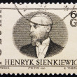 Stockfoto: Postage stamp Poland 1966 Henryk Sienkiewicz, Author