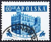 Znaczek polska 1958 ratusz, tarnów, polska — Zdjęcie stockowe