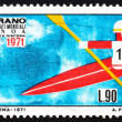 Postage stamp Italy 1971 Kayak in free Descent — Stock Photo #11931424