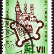 ストック写真: Postage stamp Italy 1964 Walled City