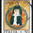 Stock Photo: Postage stamp Italy 1974 St. Thomas Aquinas, by Francesco Traini