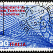 Stock Photo: Postage stamp Italy 1970 Telephone Dial and Trunk Lines