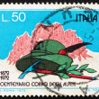 Stock Photo: Postage stamp Italy 1972 Mountains, Alpinist's Hat, Pick and Lau