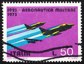 Postage stamp Italy 1967 G-91Y Fighters, Fiat — Stock Photo
