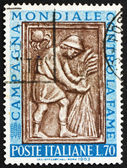 Postage stamp Italy 1963 Harvester Tying Sheaf, Sculpture — Stock Photo